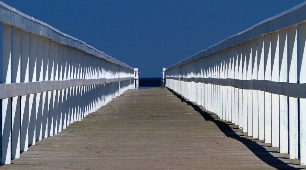 Steg am Strand von Malmø