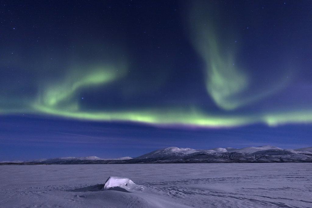 Polarlicht über dem Torneträsk