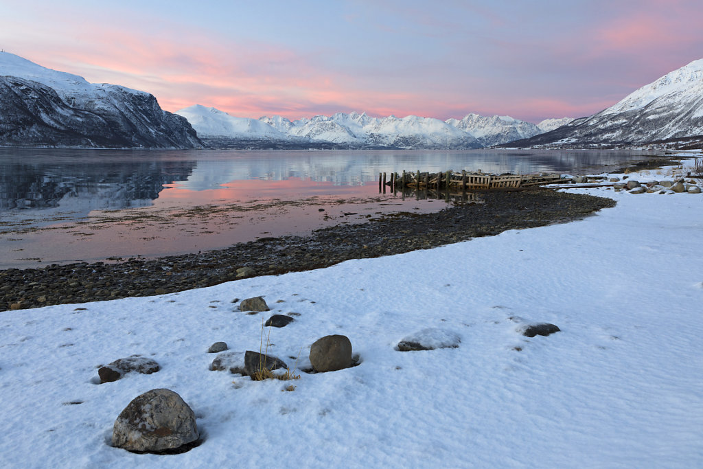 Seitenarm des Lyngenfjord