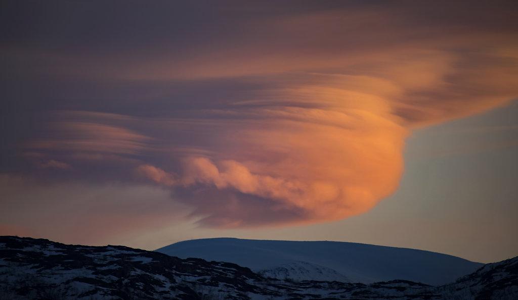 Dramatische Wolkenformation