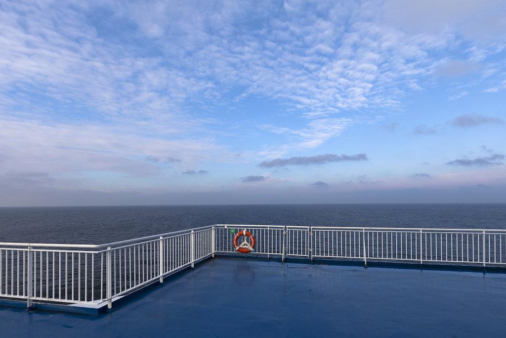 Gutes Wetter auf der Überfahrt mit der Finnlady der Reederei Finnlines, doch ...