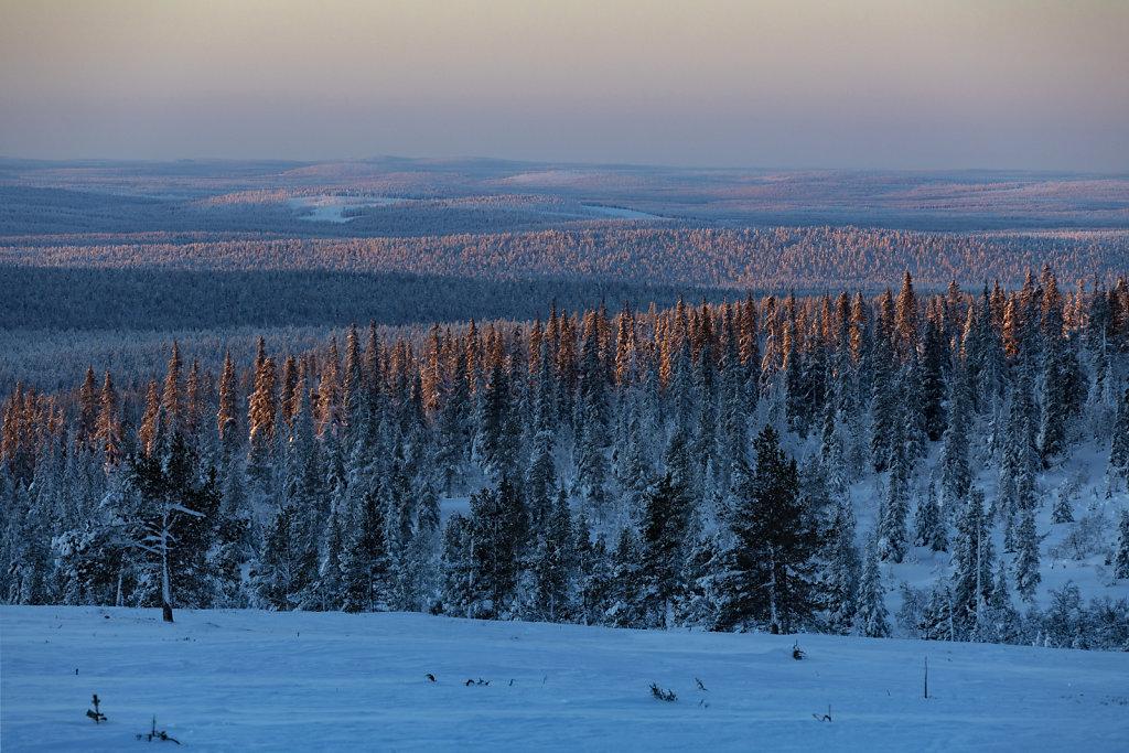 Die finnische Weite in Lappland.
