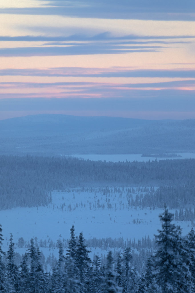 Blick vom Pallastunturi, Finnland