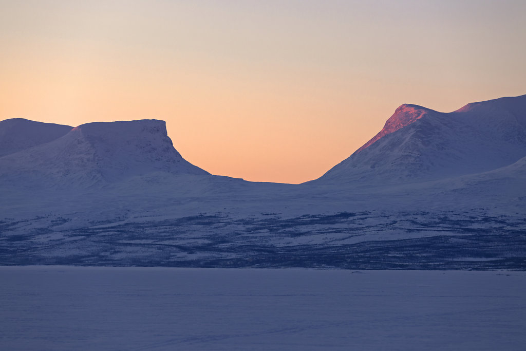 Lapporten bei Sonnenaufgang, Abisko/Schweden
